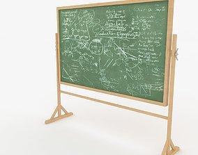 Green Chalkboard 3D model