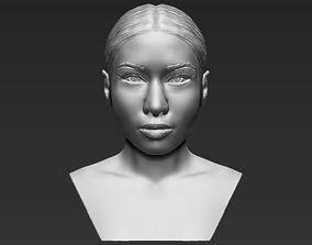 Nicki Minaj bust 3D printing ready stl obj formats