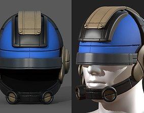 3D model Helmet scifi fantasy futuristic technology