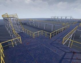 3D asset Modular industrial platform UE4