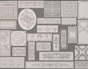 Wall Decorations-Boiserie - 25 pieces 3D