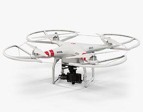 DJI Phantom 2 Quadcopter with Prop Guard and 3D model 3
