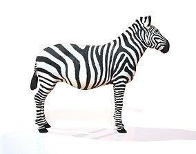 Zebra 3D model VR / AR ready