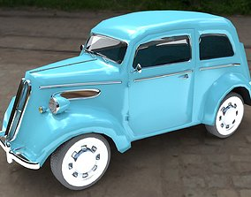 3D asset Ford Anglia 1949