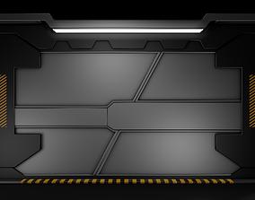 3D model realtime Sci Fi Door
