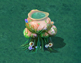 3D model Cartoon version - petrol spores