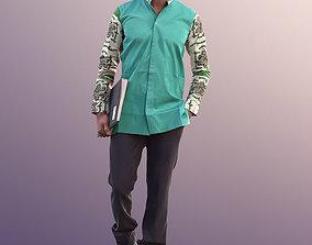 Bruce 10752 - Office Worker Walking with Folder 3D model