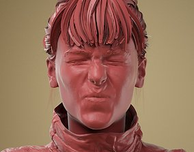 3D model Facial Expression 0-08 Wrinkle Face