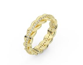 diamond cuban ring 3D printable model