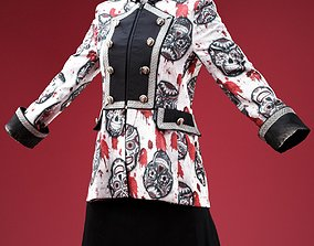 3D model Skull Decorated Horror Jacket