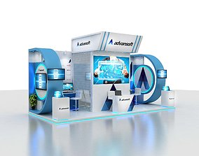 residential-space 3D Exhibition booth design