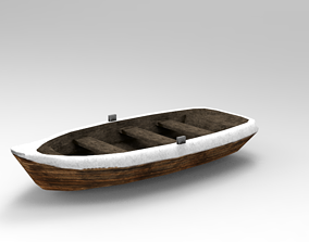 3D model realtime Low Poly Boat