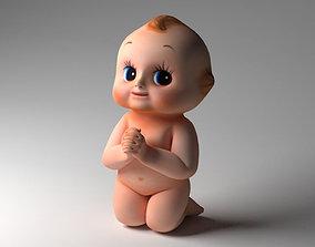Baby doll modeling 3D asset