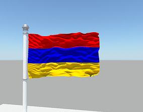 Armenia Flag 3D model
