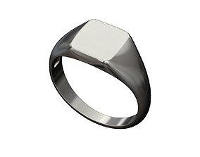 Engravable Square signet ring 3D print model