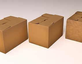 3D model Worn Carton Boxes