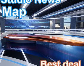 UE4 News Studio 3D asset