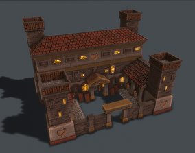 Ancient Barracks 3D model