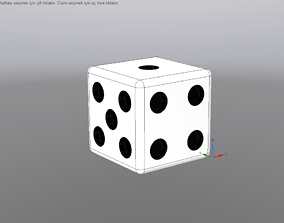 3D printable model 6 Sided Dice