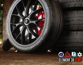 3D asset Sport Car Wheels Tesla Michelin
