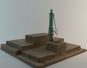 3D model Well with Pump