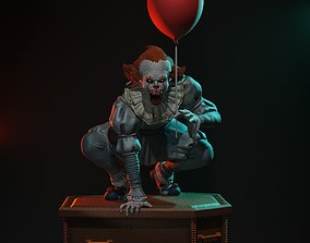 Pennywise statue 3D print model