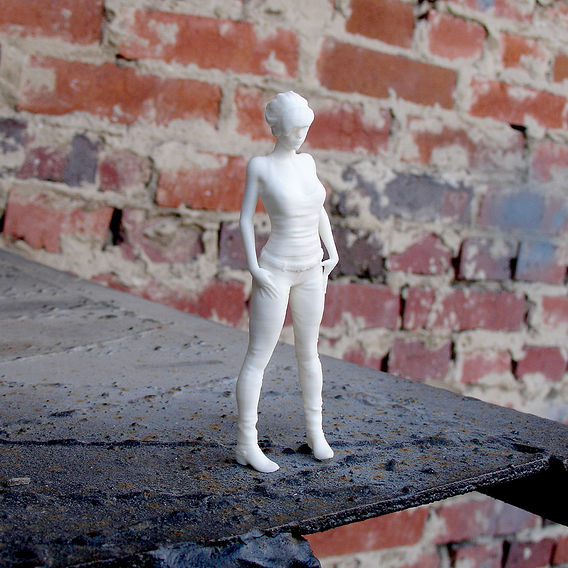 3D print of a sad girl