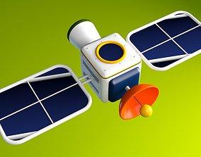 3D model Cartoon Satellite