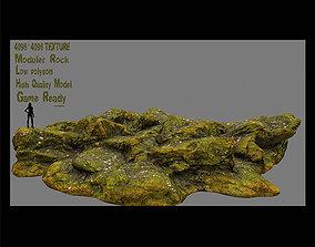 3D model mossy rock 2