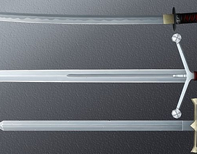 Hand-painted Swords Pack 3D asset