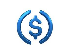 USD Coin v1 004 3D asset