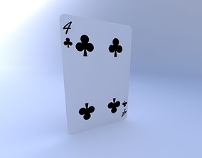 3D Four of Clubs