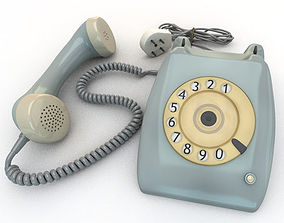 3D model Old Rotary Dial Phone rotary