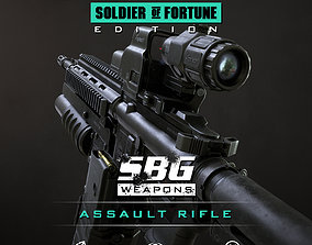 SBG Assault Rifle - Soldier of Fortune Edition 3D asset
