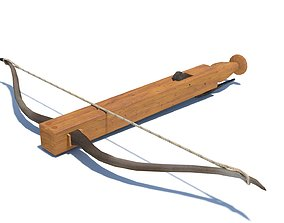 Roman composite crossbow Arcuballista 3D model