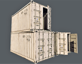 3D model Enterable Shipping Container 02 - PBR