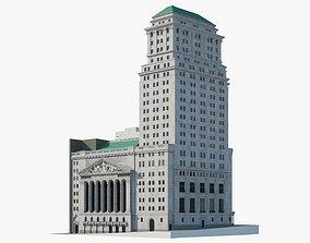 3D New York Stock Exchange Building