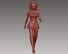 3D printable model Female Character in Walking Poses