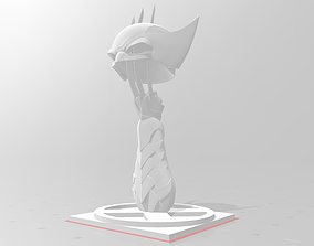 X-Men Wolverine Claws Going Through Helmet 3D print model