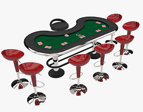 Poker Equipment 3D asset