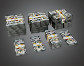 3D asset Cash Money Pile BHE - PBR Game Ready
