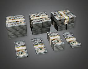 Cash Money Pile BHE - PBR Game Ready 3D asset