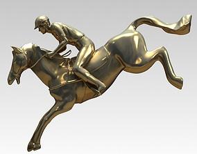 Equestrian sculpture 3d model