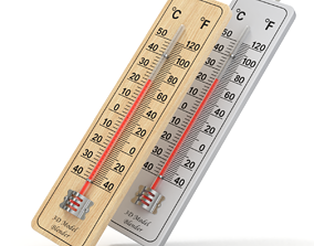 equipment Wall Thermometer 3D model