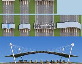 3D model Highway toll station