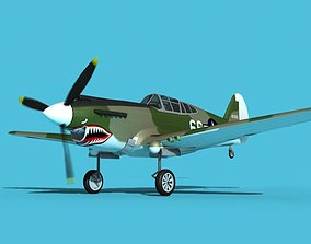 Curtiss P-40B Warhawk V06 USAAF 3D model