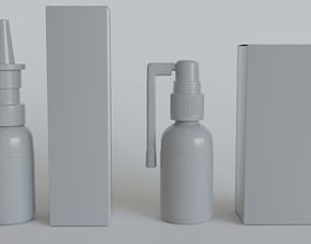 3D model Nasal and Throat Spreys and Packages