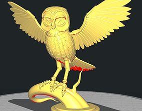 classic 3D print model Bubo the owl