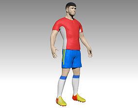 human 3D model Football player