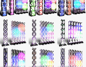 Stage Decor Collection 03 Modular Wall Column 9 3D model 1